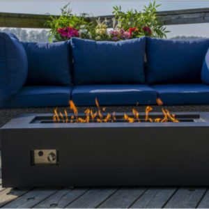Carbon collection rectangle fire table | safe home fireplace in strathroy & london ontario