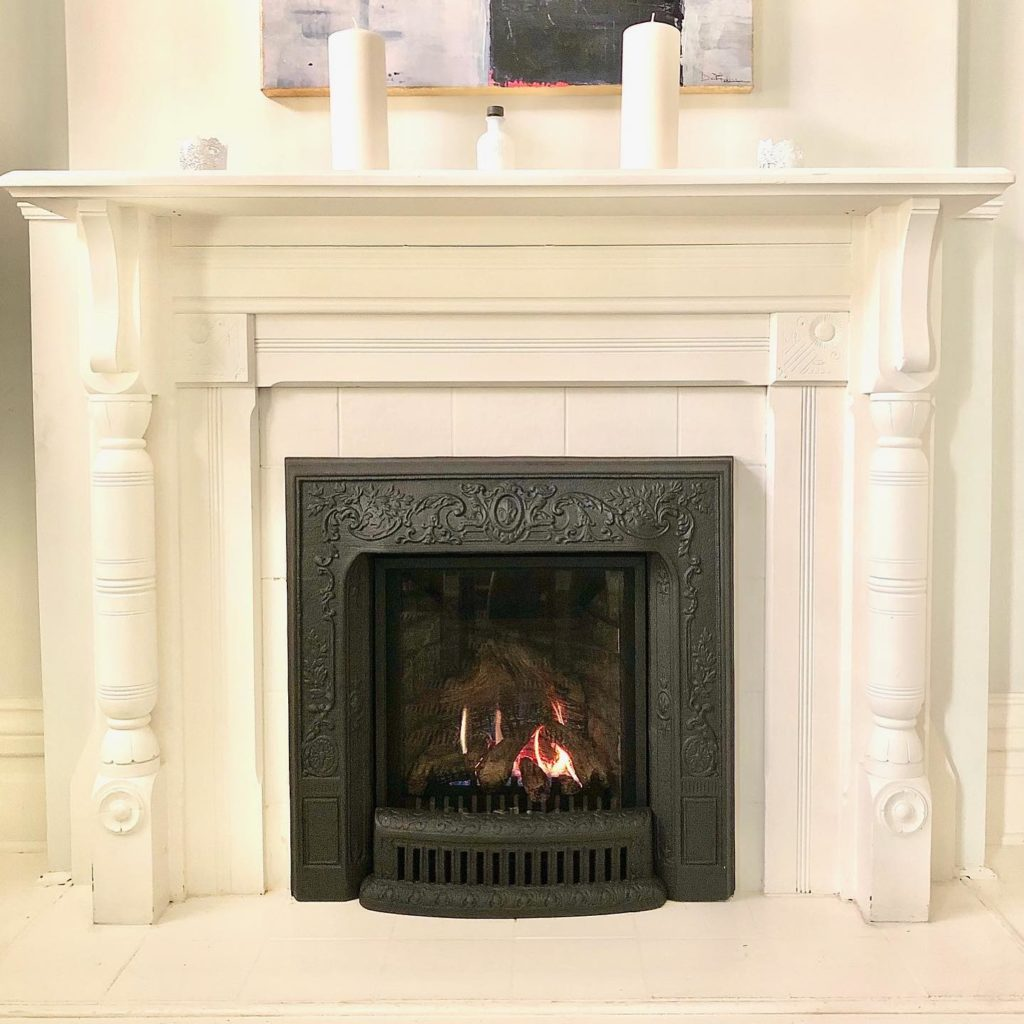 Fireplace installation image on safe home fireplace website