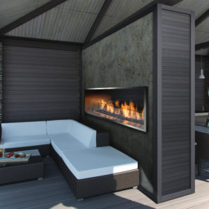 """Barbara Jean 36"""" Outdoor Linear Gas Fireplace 