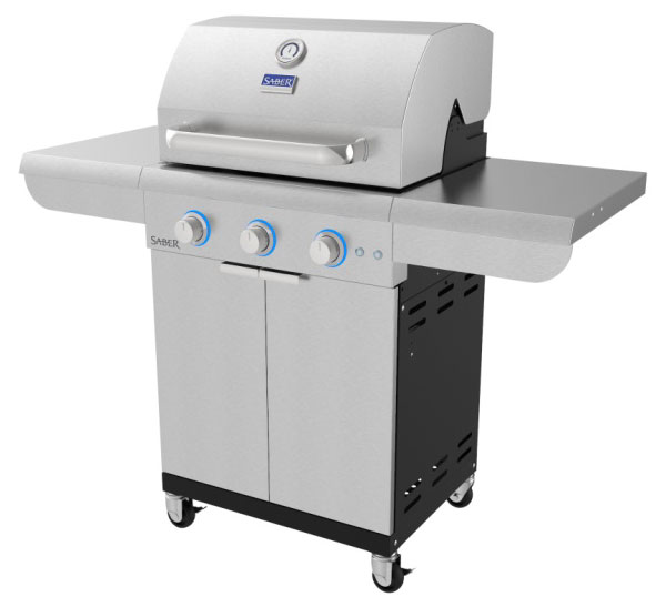 Saber select 3-burner gas grill | safe home fireplace in london and strathroy ontario