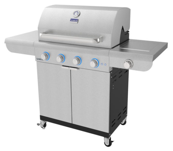 Saber select 4-burner gas grill | safe home fireplace in london & strathroy ontario
