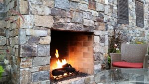 Safe home fireplace - outdoor fireplace - body image