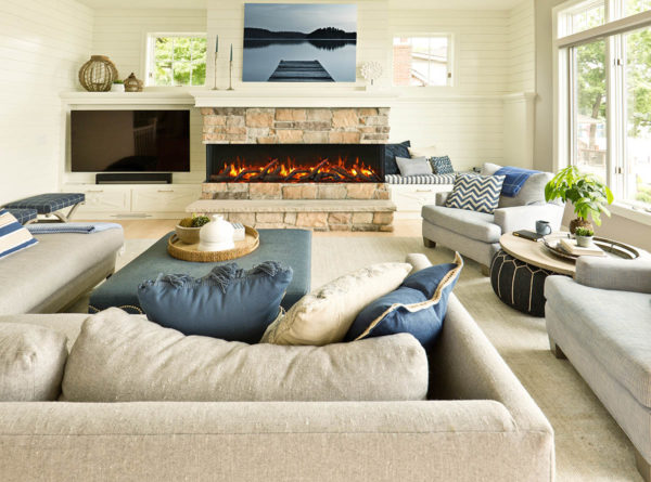 Amantii 72-tru-view slim electric fireplace | safe home fireplace in london and strathroy ontario