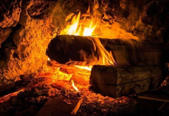 Safe home fireplace - burning embers - feature image